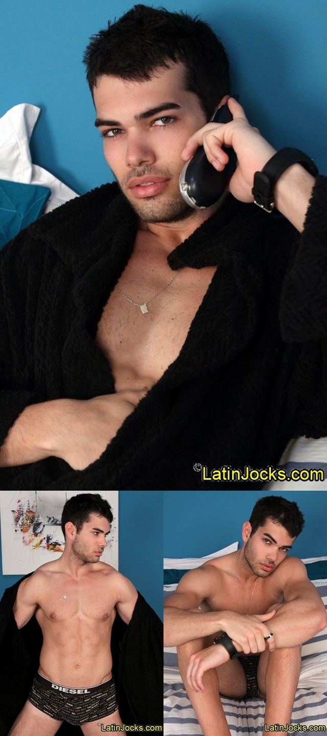 Naked Latin Jock super hot 21yro Leo with dark looks and eyes jerks his huge cock 001 Download Full Gay Porn Gallery here 1