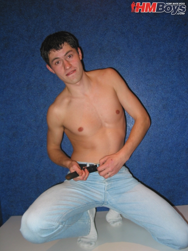 naked young boy in white socks