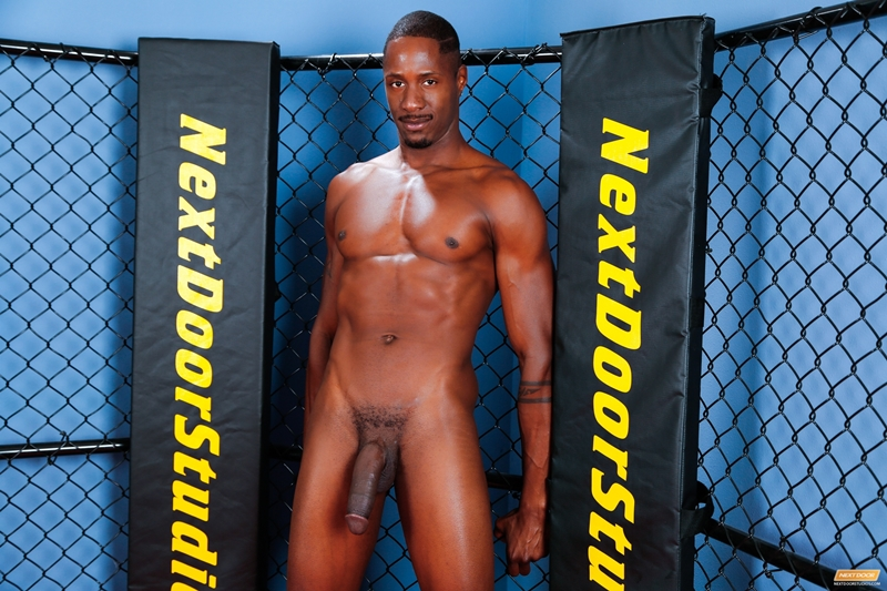 With erections nude black men