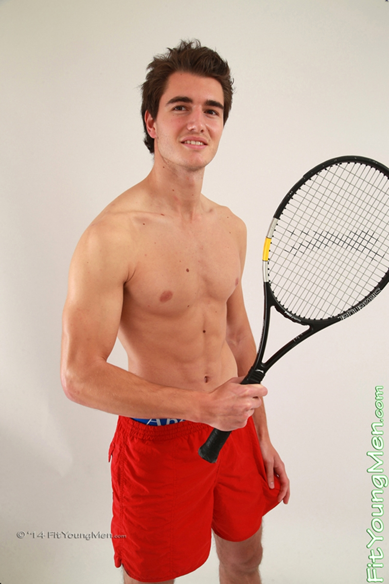fit young men  Nude tennis player Jackson Oliver