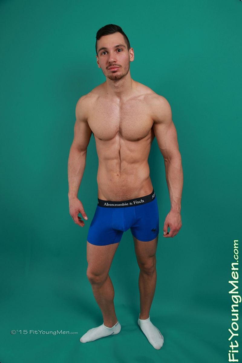 21 years old Roland Denis strips down to his sexy