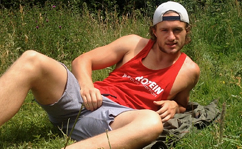 EnglishLads-Aaron-Janes-athletic-ripped-body-stubble-beard-big-uncut-cock-shorts-ankles-wanking-cums-outdoor-public-foreskin-002-gay-porn-sex-porno-video-pics-gallery-photo