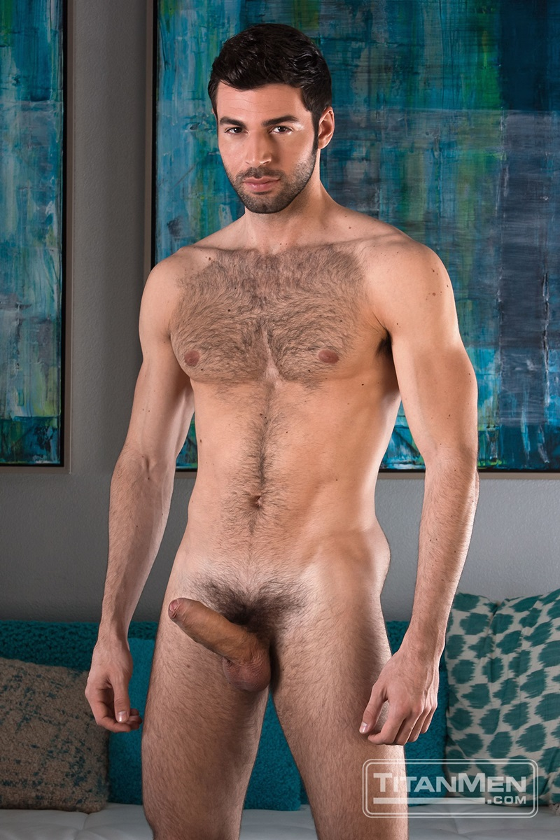 Men naked erect rough