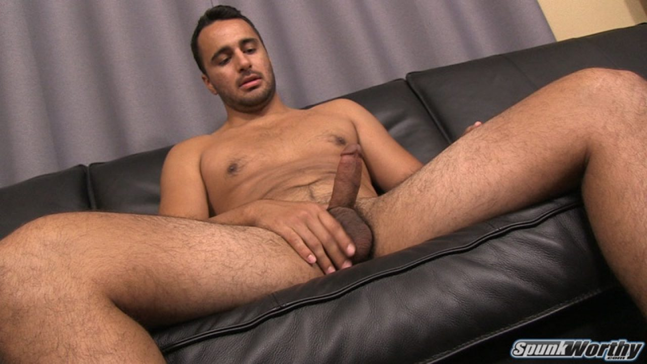 Ass Fingers Gay Porn eddie jerks his big cock and fingers his tight straight ass