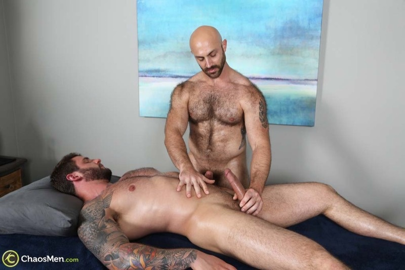 image Two hairy beefy guys give each other blowjobs