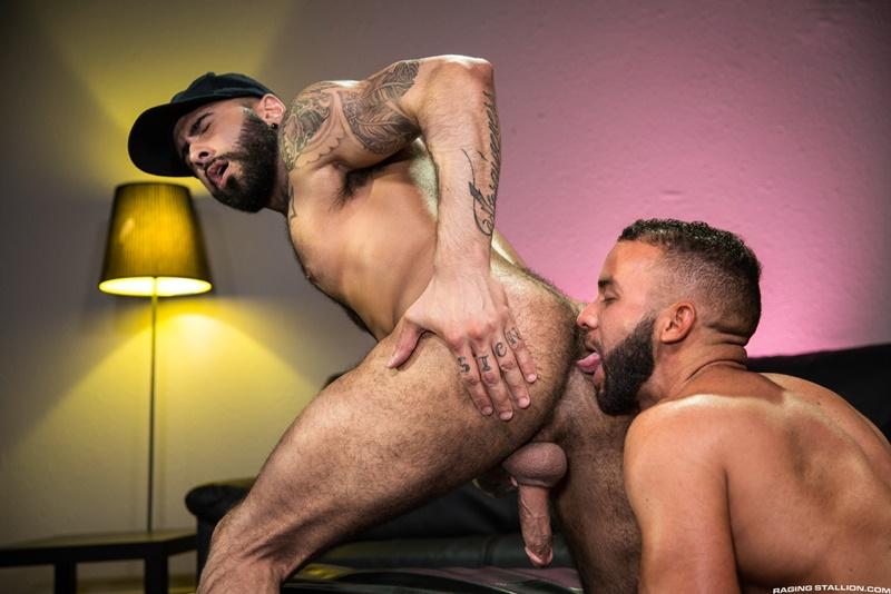 Fernando Del Rio rims Rikk York's hairy ass making his big dick rock hard