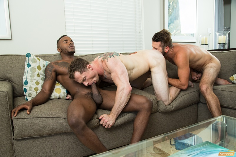 Johnny Hill and Pheonix Fellington take turns abusing Markie More's tight ass hole