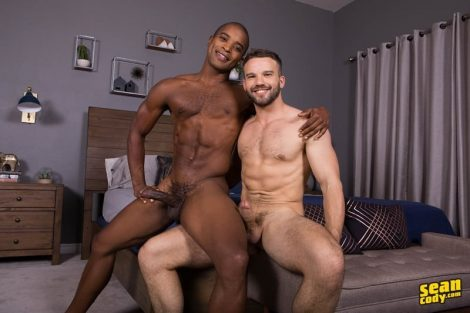 Hot young muscle boys Landon and Jackson bareback ass fucking