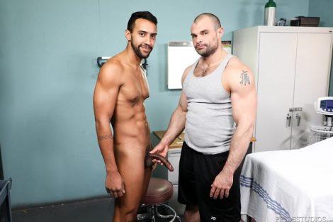 Jay Alexander rims Jaxx Thanatos' big beautiful hairy ass before fucking it hard and deep with his huge cock