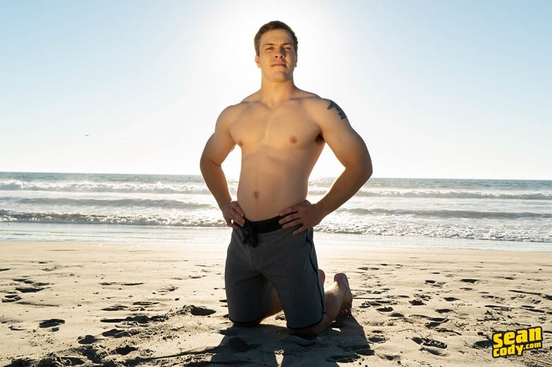Men for Men Blog Sean-Cody-Clyde-Muscular-stud-strips-naked-jerks-big-muscled-dick-solo-SeanCody-003-gay-porn-pictures-gallery Sean Cody Clyde's nickname in high-school was 'Bratwurst' because of the width of this hot young stud's cock Sean Cody