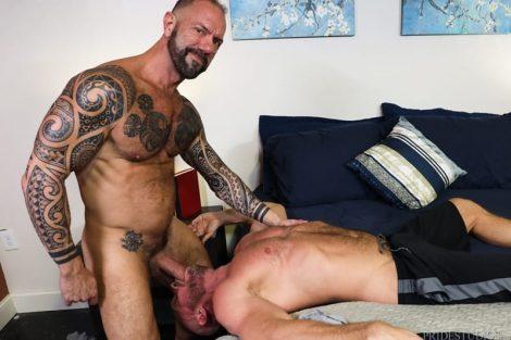 Hairy hunks fucking Vic Rocco drives his big cock deep inside Killian Knox's smooth bubble ass