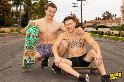 Sexy young muscle studs Sean Cody Clyde and Lane hardcore bareback ass fucking