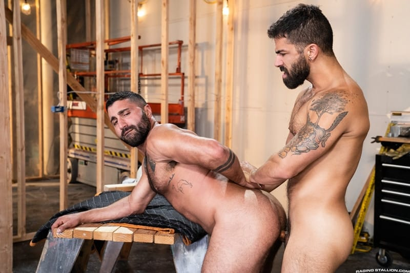 Men for Men Blog Gay-Porn-Pics-014-Adam-Ramzi-Sharok-Hairy-muscle-hunk-anal-fuck-huge-raw-cock-deep-ass-crack-RagingStallion Hairy muscle hunk Adam Ramzi slides his huge raw cock deep into Sharok's ass crack Raging Stallion