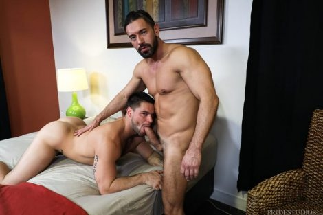 Alexander Garrett drives his huge cock deeper into Aspen's hot bubble butt