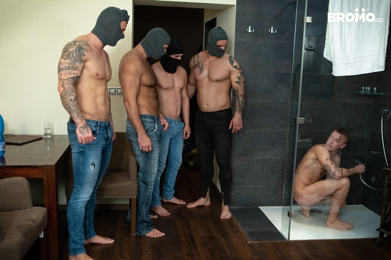 Bromo-Hot-naked-sub-dude-four-masked-men-bareback-fucking-ass-holes-001-gay-porn-pictures-gallery