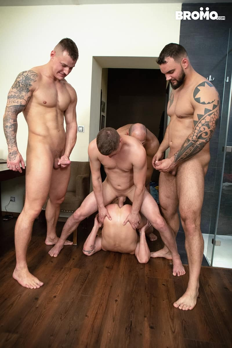 Bromo-Hot-naked-sub-dude-four-masked-men-bareback-fucking-ass-holes-018-gay-porn-pictures-gallery