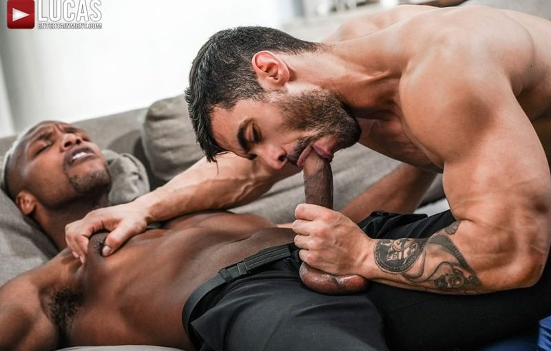 Total power top Andre Donovan bottoms for Arad Winwin's huge muscle cock